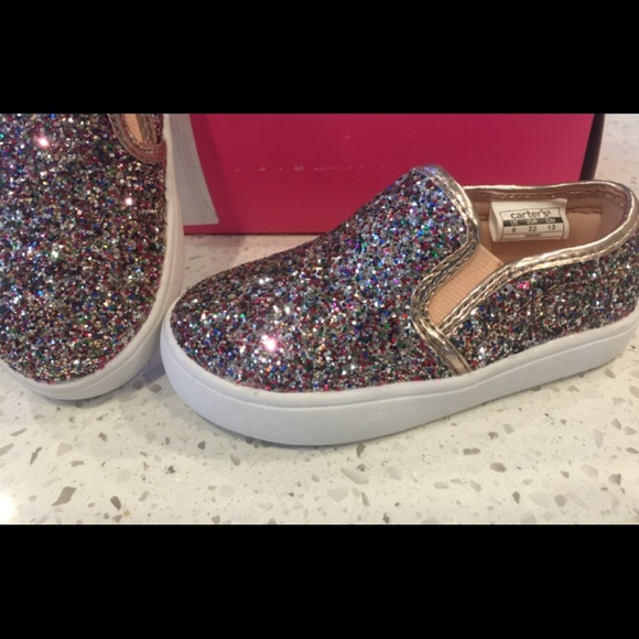 Carter's Other - 6 TODDLER sneakers glitter sparkle Carter's Baby